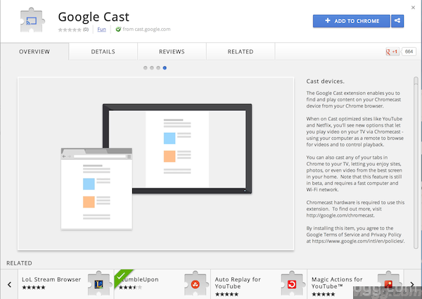 Google Cast – Chrome Extension to broadcast to your cast devices