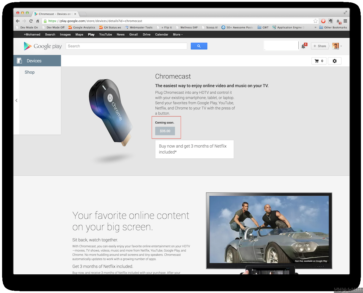 New Google Chromecast device sold out in couple of hours!