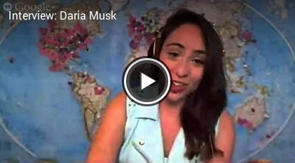 Google+ Music Star Daria Musk Hangout Interview Video!