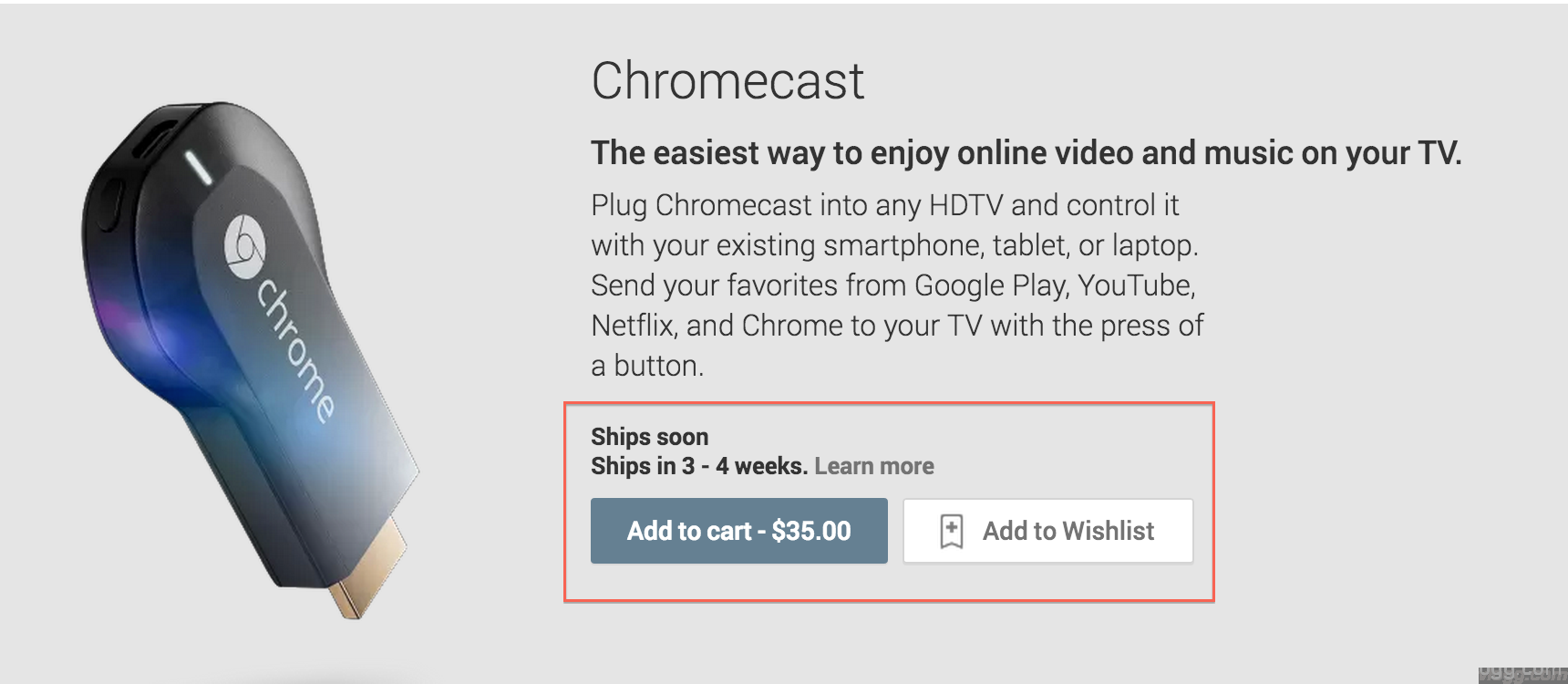 Google Chromecast now available in playstore!