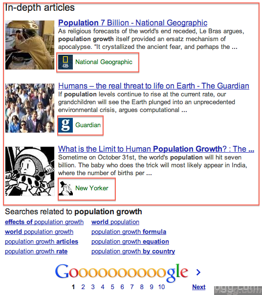 Google Releases in-Depth Articles in Search Results
