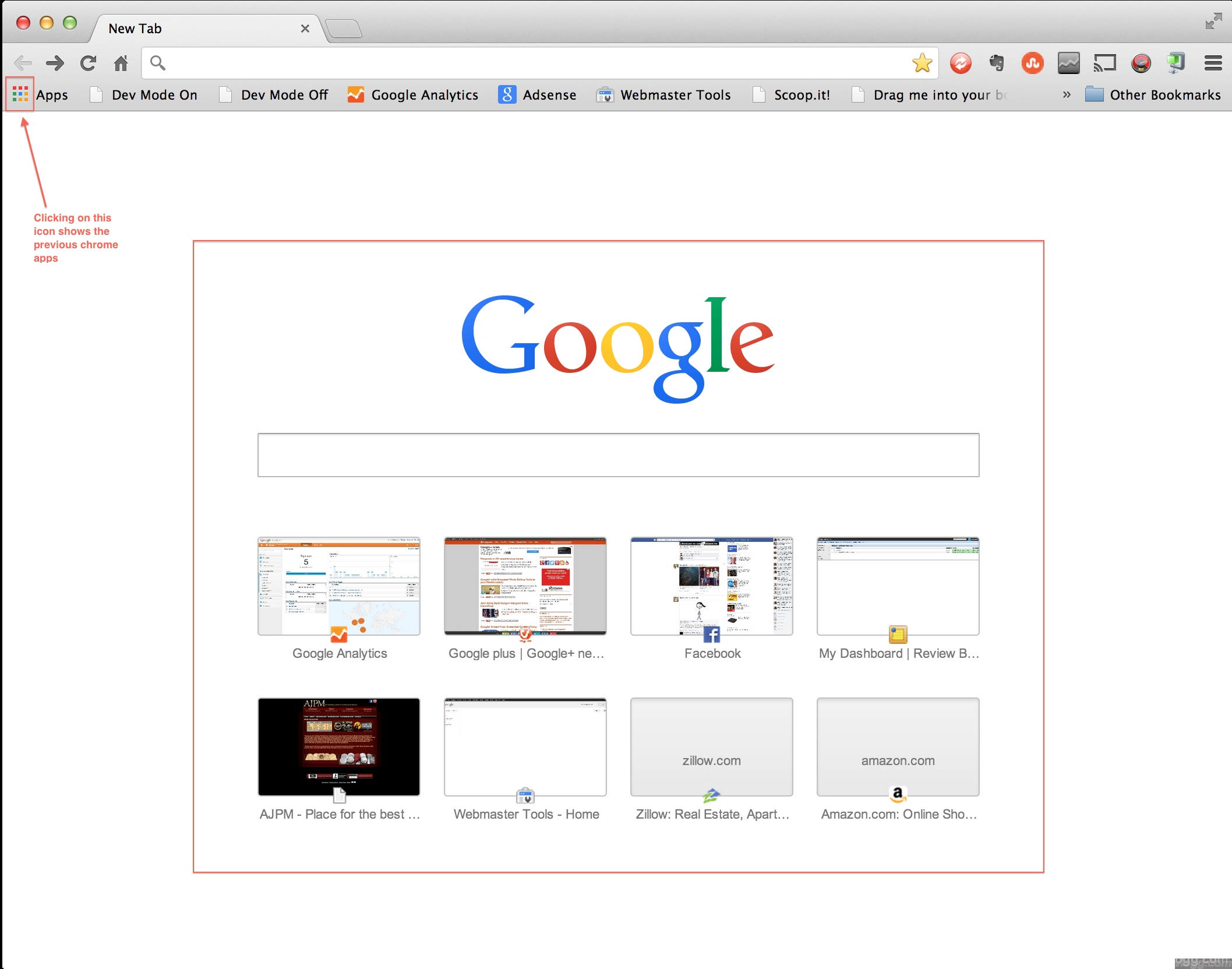 Google Chrome 29.0.1547.76 Update With Google Search in New Tab Released!