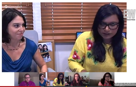 'The Office' Mindy Kaling Google+ Hangout Video