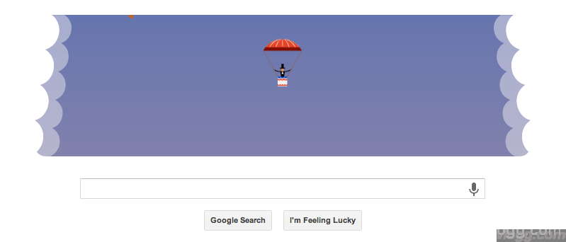 Checkout Google Parachute Jump Doodle Today!