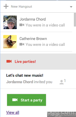 How To Find Live Hangout Parties in Google+?