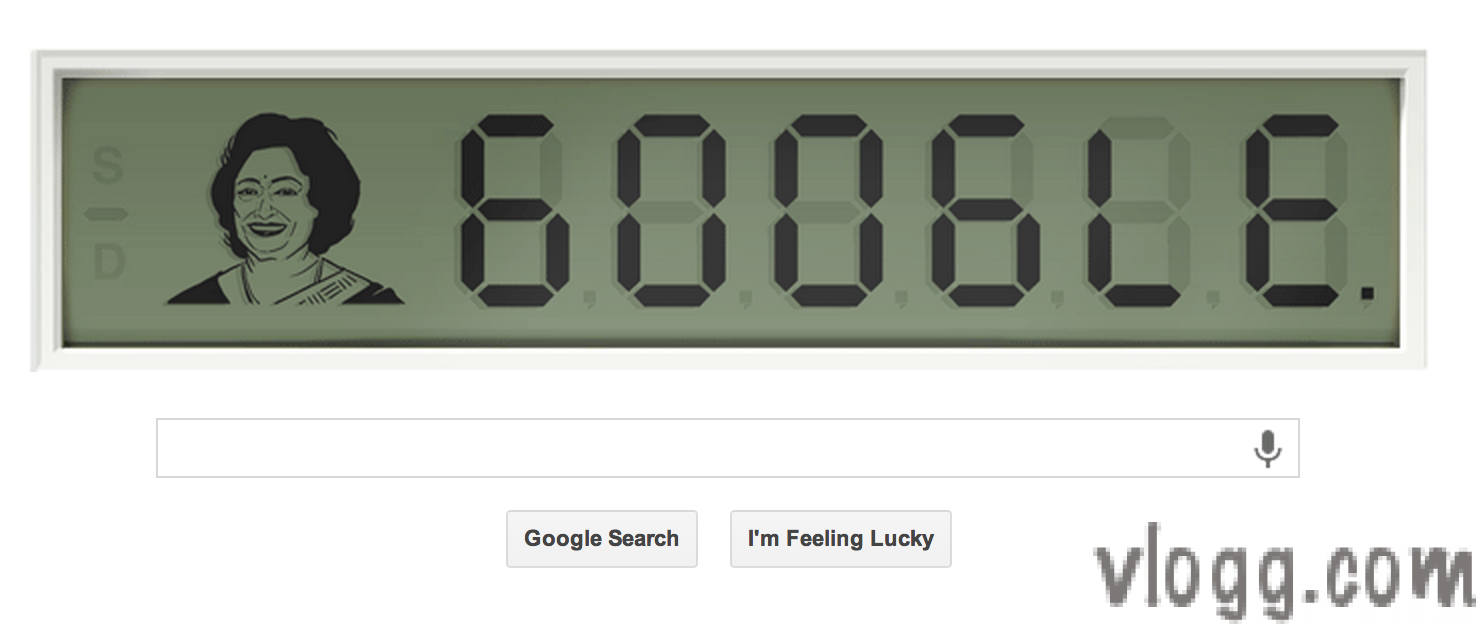 Google Doodle today honoring 'Human Computer'  Shakuntala Devi