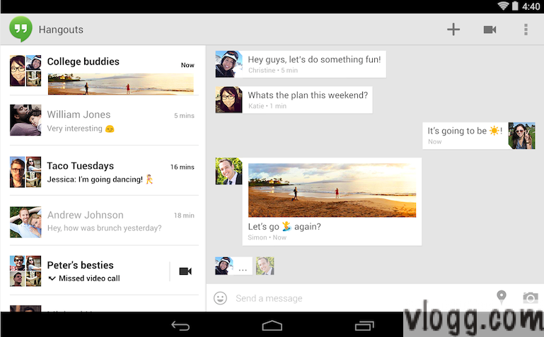 Google+ Hangouts v2 Android App with SMS, MMS, Animated Gif's Released [Images:Playstore]