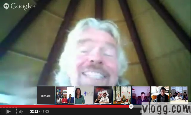 Entrepreneurs Hangout with Richard Branson and Ben Silbermann Video