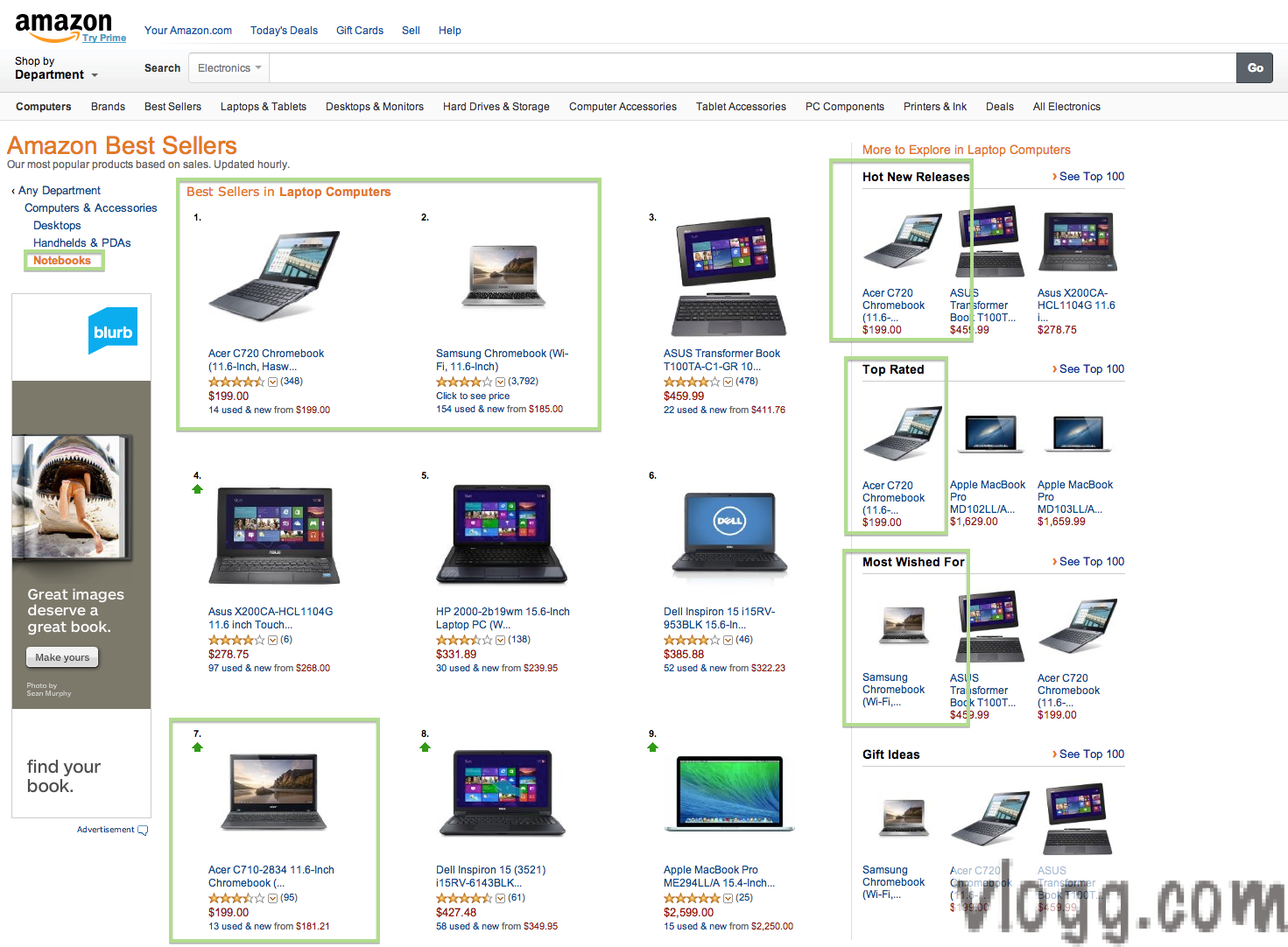 Chromebook Ranking #1 under Amazon Best Sellers under Notebook Category [Images: vlogg.com]