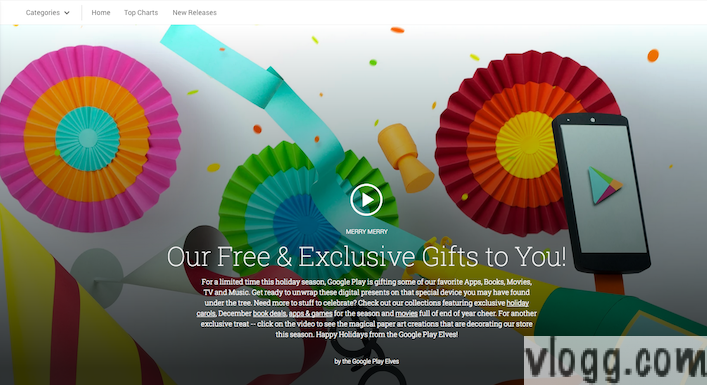 Google Play Offers Free and Exclusive Gifts for 2013 Holiday Season