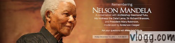 Nelson Mandela Digital Eulogy Google+ Hangout [Images: from Google+ Event page]
