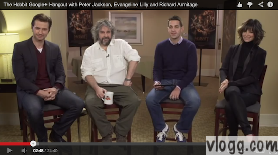 The Hobbit Movie Google+ Hangout With Director and Stars [Video]