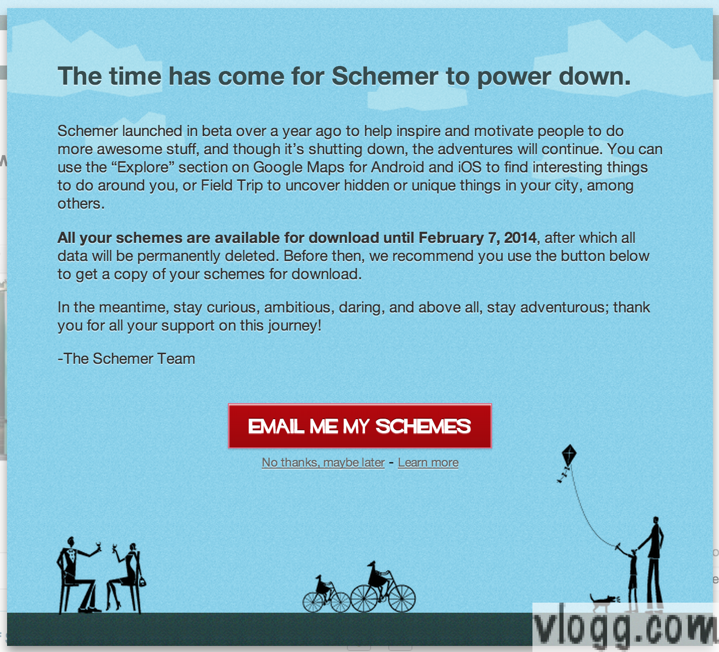 Google Schemer Beta to Shutdown in February 2014!