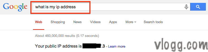 What is my public ip address? Find quickly on Google Search