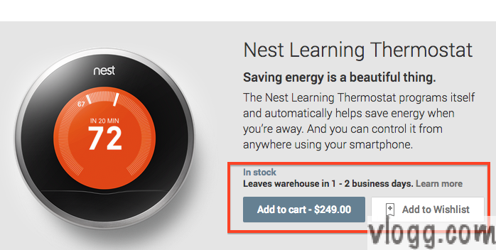 Nest Learning Thermostat Appears for Sale on Google Play Store