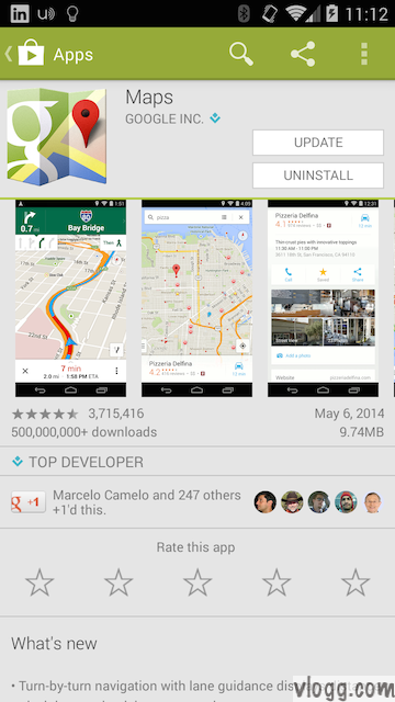 Google Maps for Android with Offline & Uber Support Released