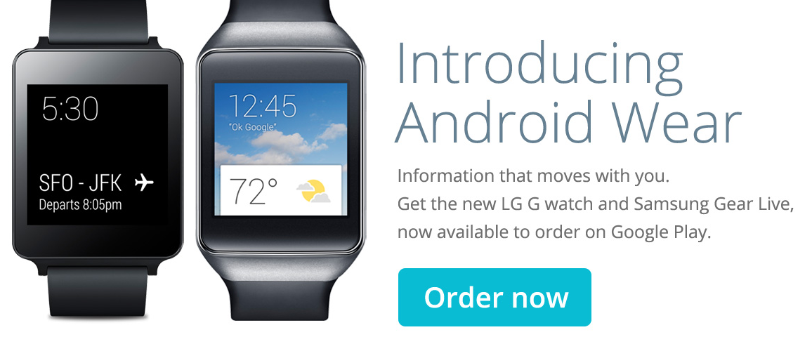 Android Wear Smart Watches Now Available on Google Play Store