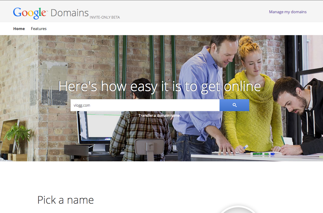 Google Launching Its Own Domain Registration Service
