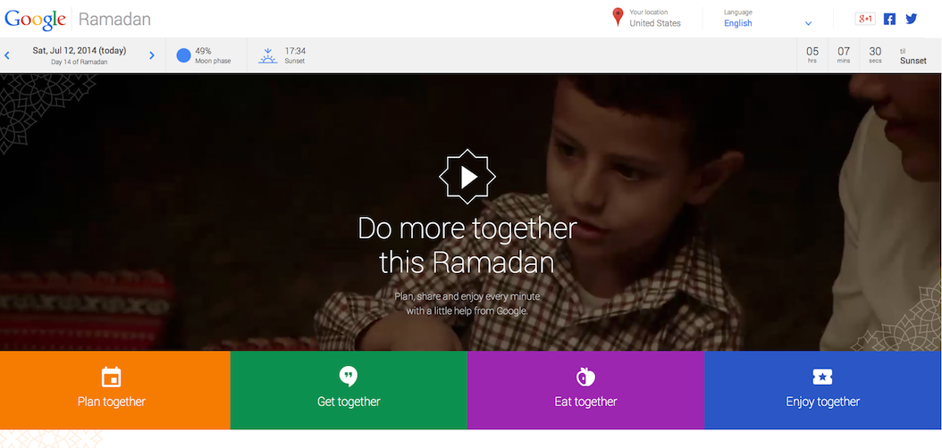 Google Ramadan: One Place to Plan, Share & Enjoy Ramadan