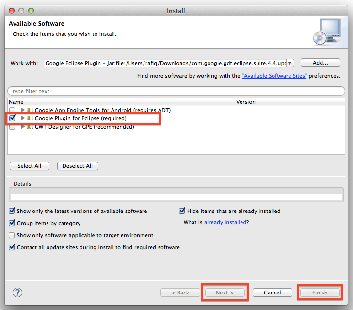 Step4.SelectGoogleEclipsePlugin