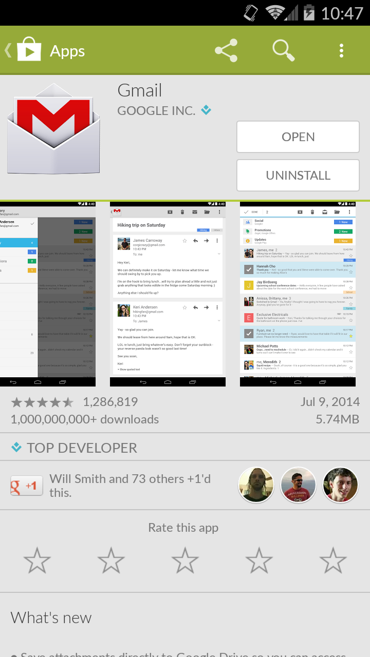GMail iOS App 3.1415926 Released with iPhone 6 support