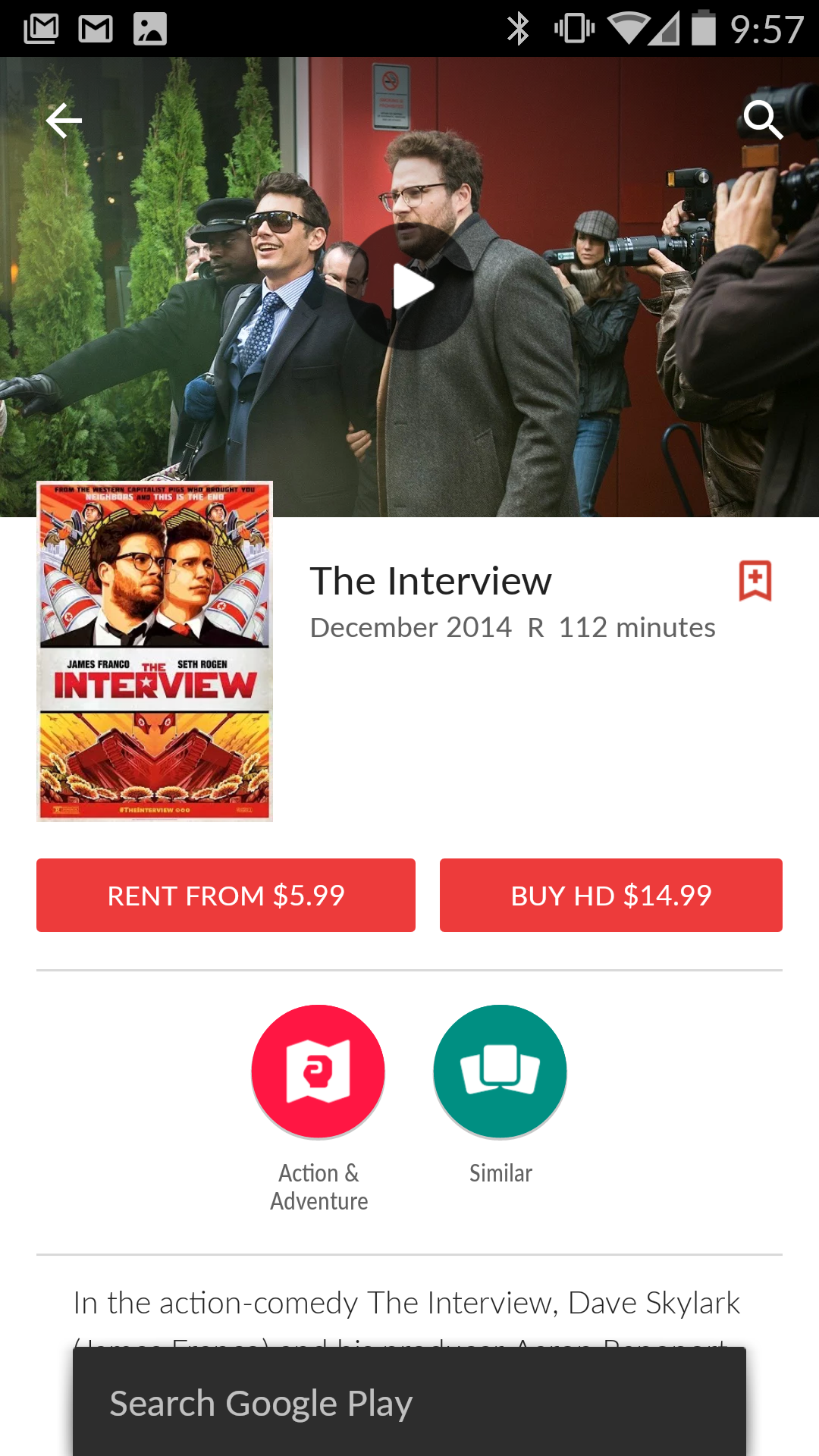 The Interview Movie Released On Google Play Store
