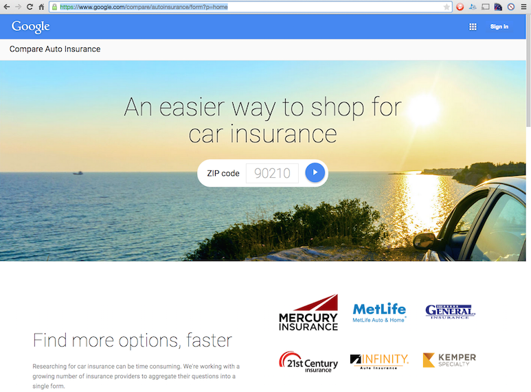 Google Launches Compare Auto Insurance Quote Tool