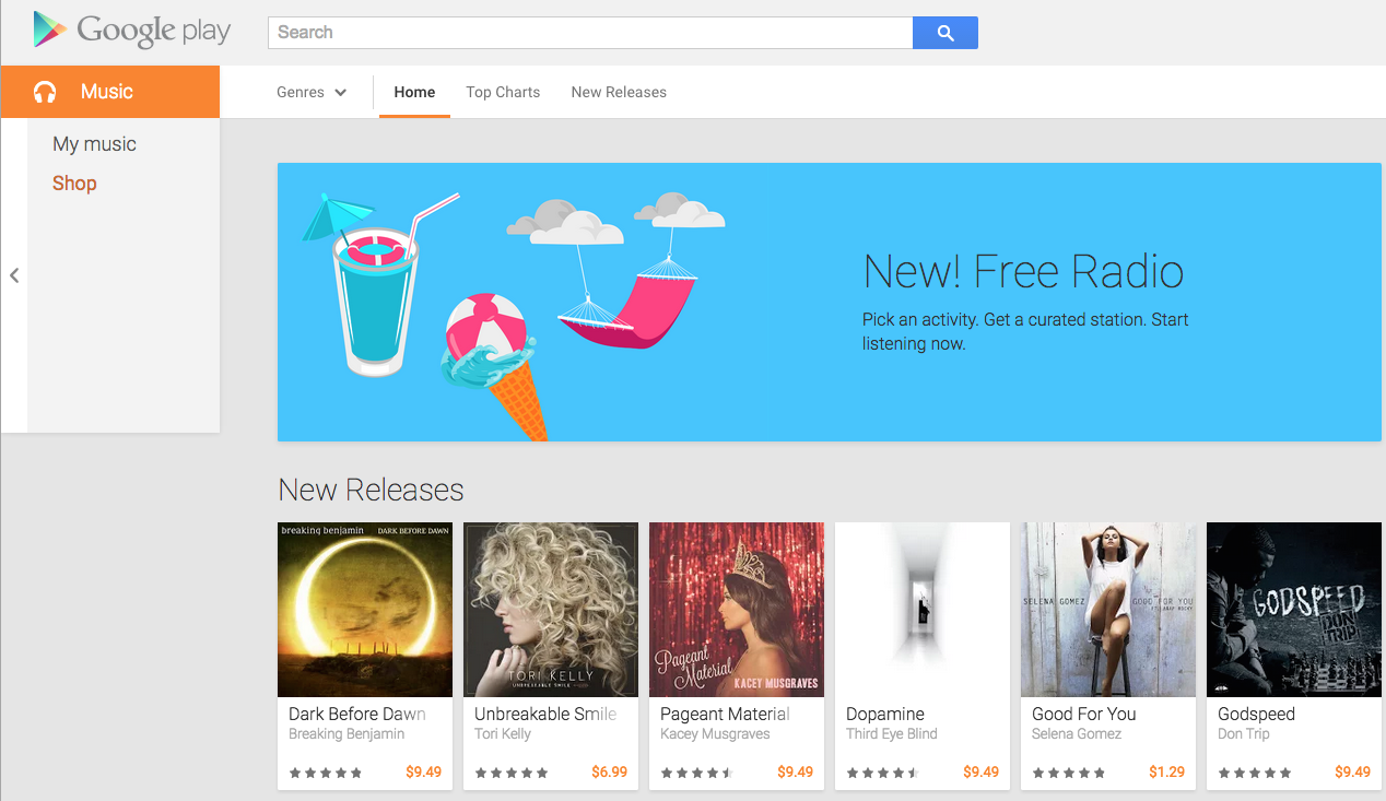 Google FREE Radio in U.S