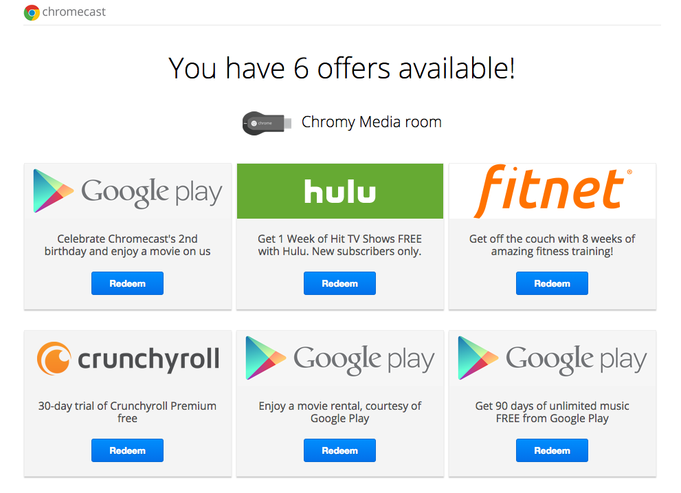 Chromecast Birthday: Get Free Movie Rental on Google Play