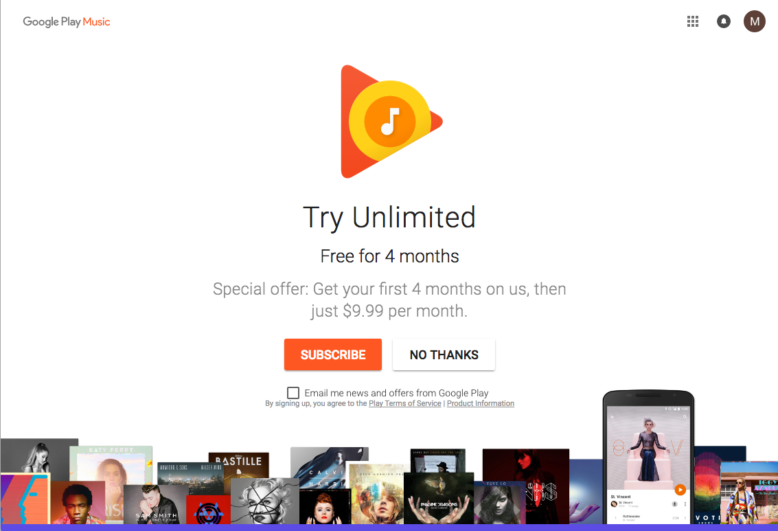 4 Months of Free Google Music for July 4th Independence Day
