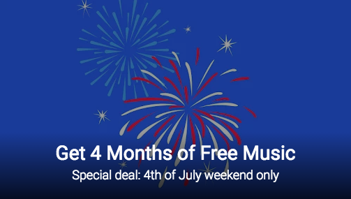 July 4th Google Music FREE Trial