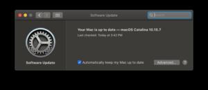 macOS 10.15.7 Catalina Update