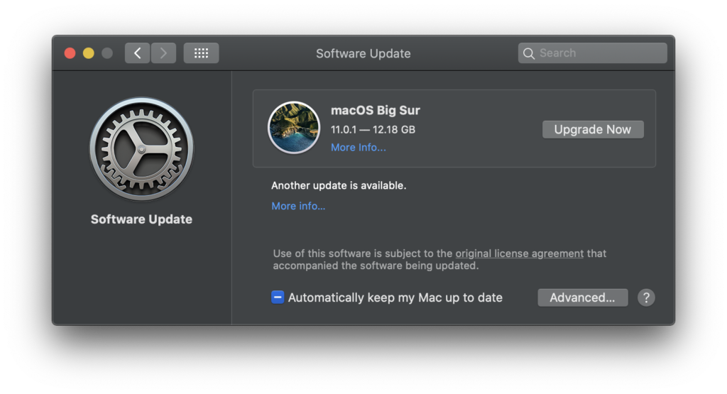 macOS Big Sur 11.0.1 upgrade download