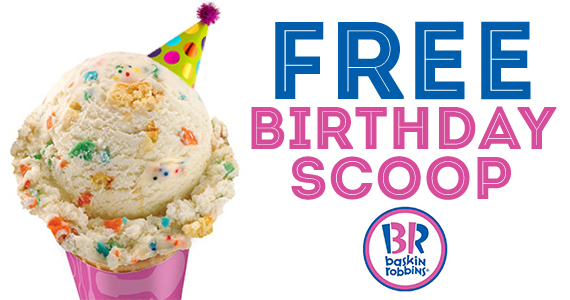 Free Ice Cream on Your Birthday from Baskin Robbins