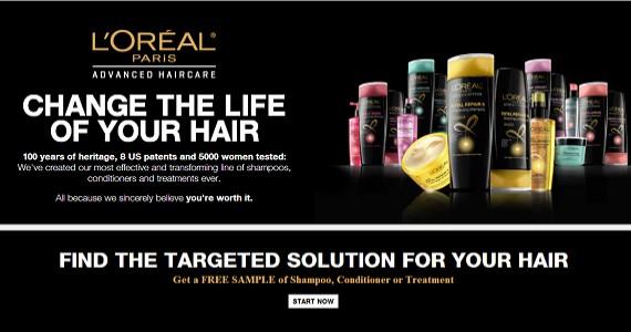 Free Sample of L'Oreal Advanced Haircare