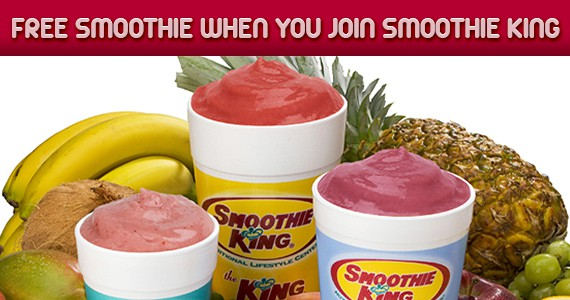 Join Smoothie King for a FREE Smoothie