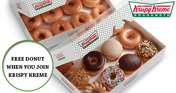 FREE Donut When You Join Krispy Kreme