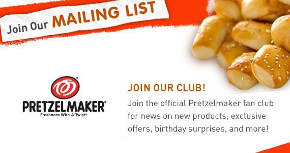 Join Pretzelmaker For a Free Pretzel