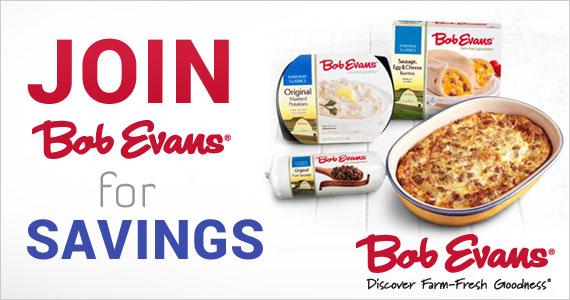 Join Bob Evans for Savings