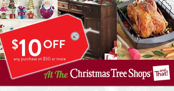 $10 Off At The Christmas Tree Shop