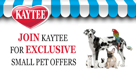 Join Kaytee for Exclusive Small Pet Offers