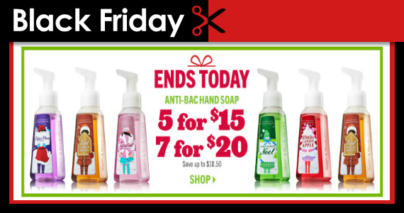 Exclusively Online: Black Friday Bath & Body Works