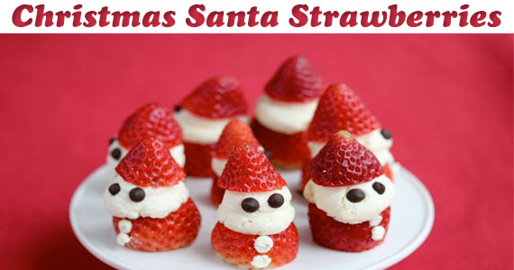 Christmas Santa Strawberries Recipe