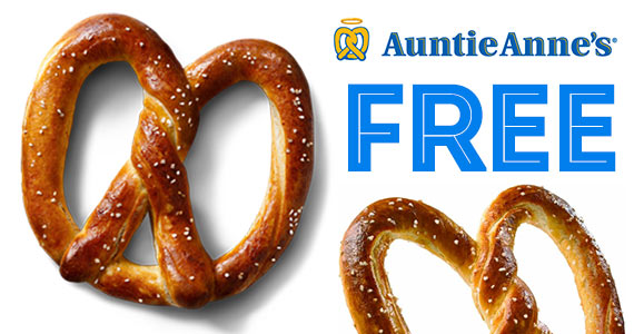 Free Pretzel From Auntie Anne's