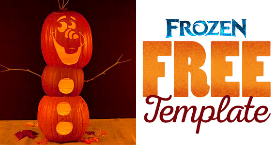 Free Olaf Pumpkin Carving Template