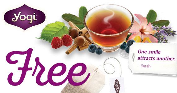 2 Free Yogi Tea Samples