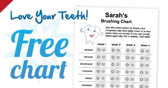 Free Kids Tooth Brushing Chart