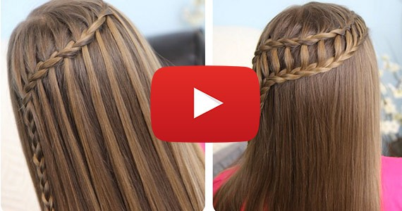 How To Feather Waterfall Ladder Braid Combo