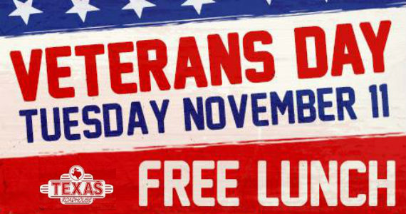 Free Lunch For Military At Texas Roadhouse