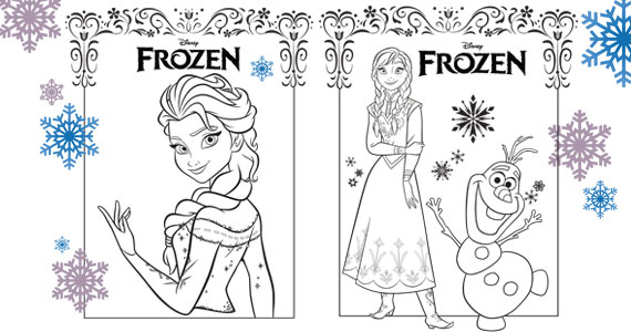Free Frozen Coloring Sheets